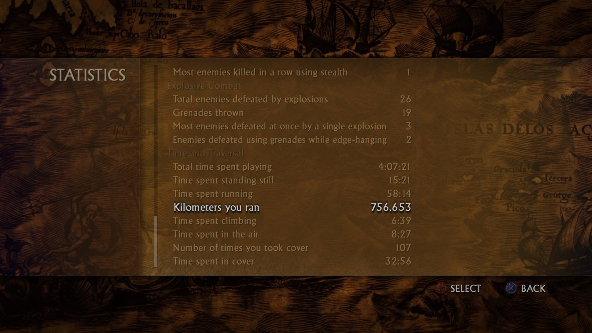 Statistics @ Uncharted: Drake's Fortune